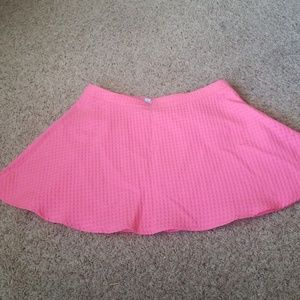 Hot pink skater skirt with mini hearts